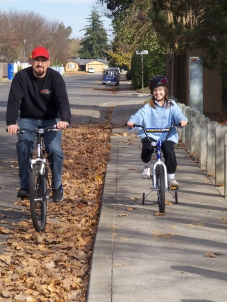 richard and bri biking