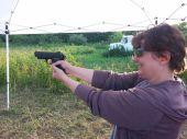 Evie getting her gun groove